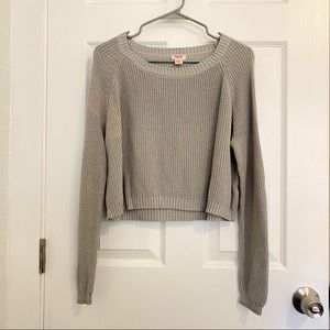 Mossimo Grey crew neck knit sweater size girl XL
